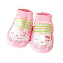 Bas antidérapants pour bébés filles   Jolis vêtements dhiver pour bébés, en coton et caoutchouc, joli
