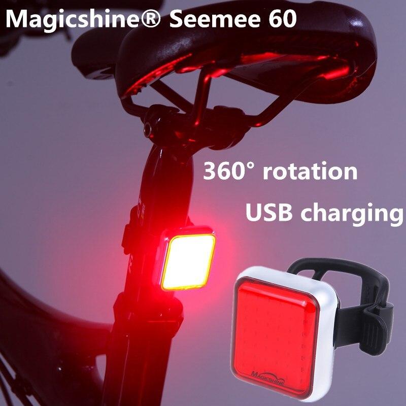 Mago americano USB recargable bicicleta luz trasera LED de ciclismo luz trasera impermeable bicicleta de carretera inteligente luz trasera para