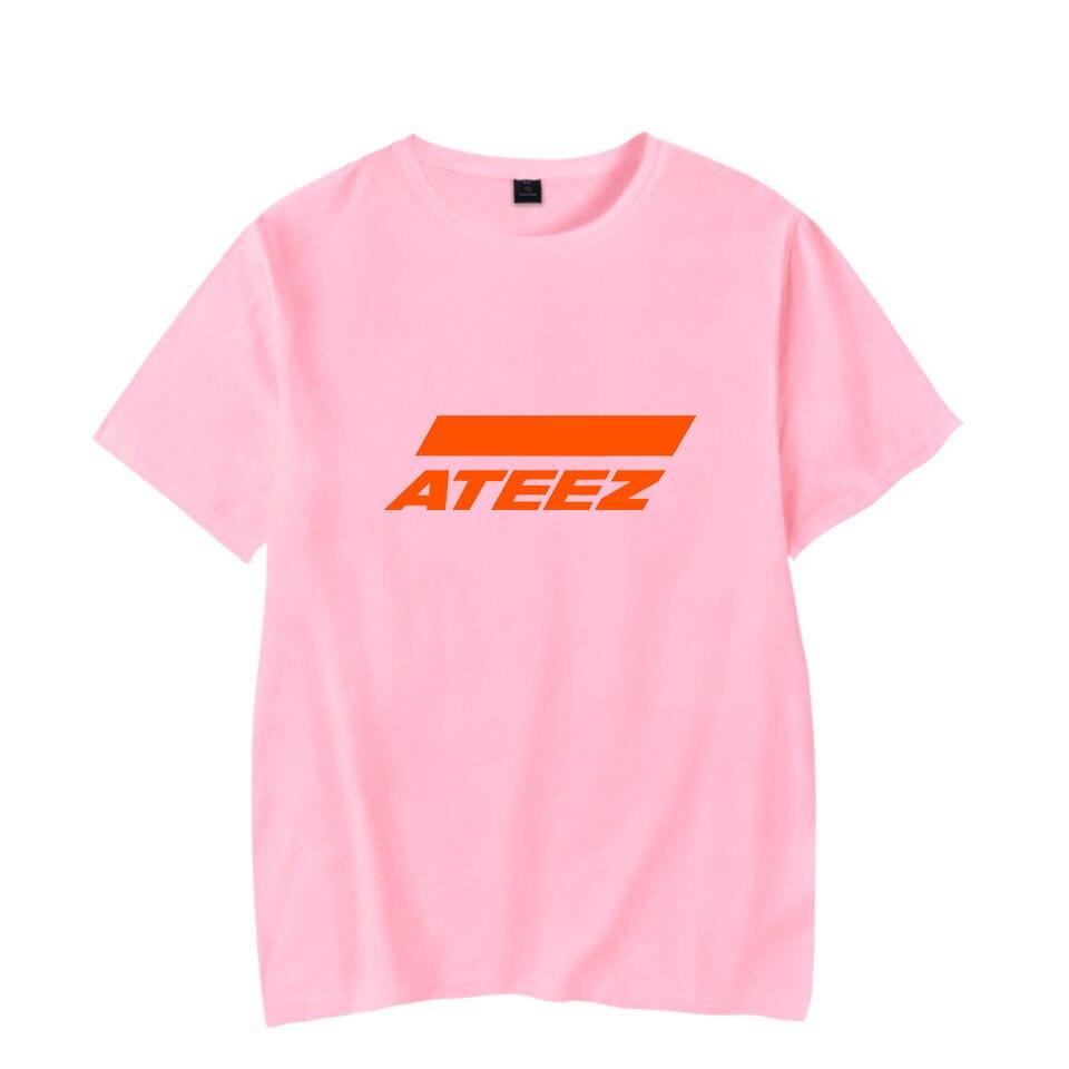 Moda Hot ATEEZ T-shirt Dos Homens/mulheres Chegam Novas Hip Hop Verão ATEEZ rosa de Manga Curta casuais t camisa de Algodão XXS-4XL