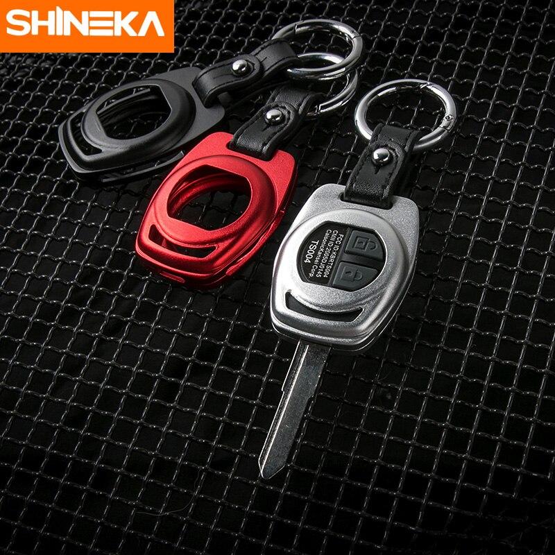 SHINEKA автомобильный Стайлинг уникальный дизайн Алюминиевый сплав чехол для ключей металлический Автомобильный Брелок чехол для Suzuki Jimny