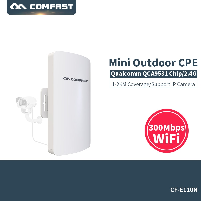 300Mbps Wireless Access Point Outdoor CPE WIFI Router WIFI Amplifier Comfast CF-E110N WIFI Bridge Nanostation WI-FI