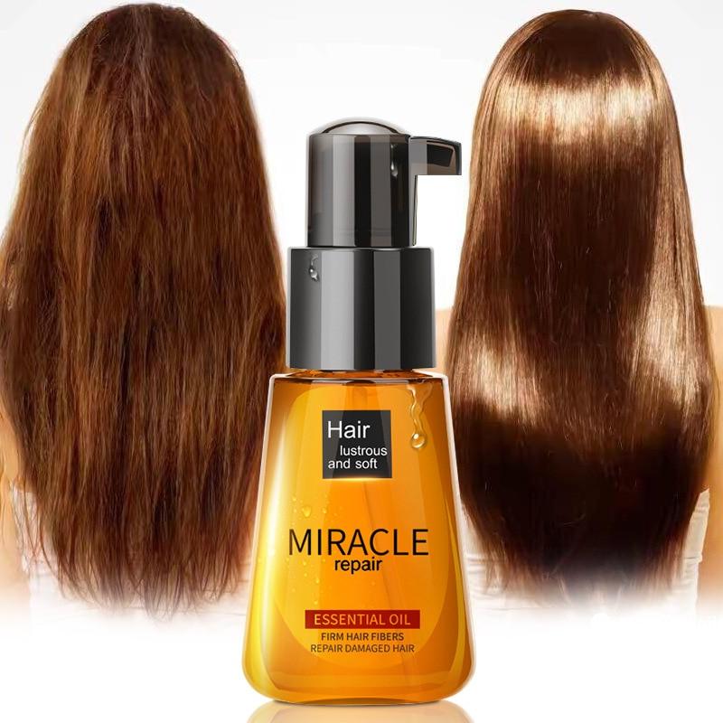 Miracle Argan Oil Hair Conditioners Care Essence Nourishing Repair Damaged Improve Split Hair Treatment Pure Essential Oil TSLM1