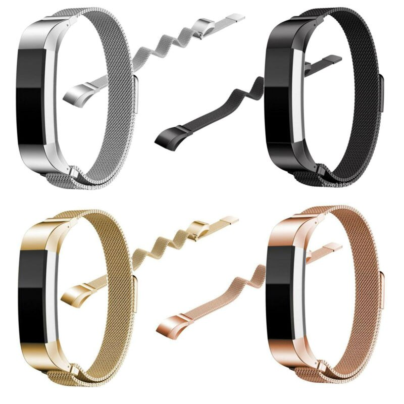 Para Fitbit banda Magnética de Alta substituição ace Milanese Laço de metal Banda inteligente pulseira para fitbit Alta tiras de metal
