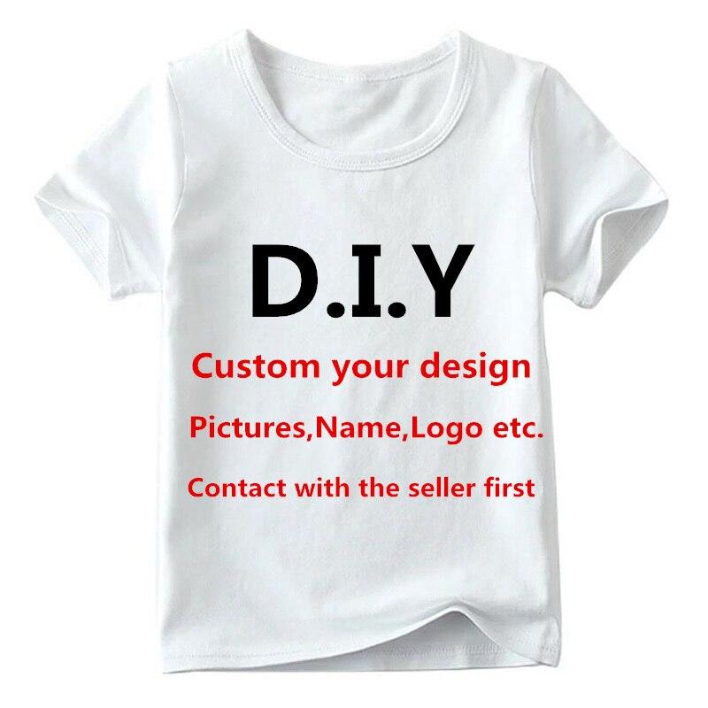 Camiseta de impresión personalizada para niños, camiseta personalizada con tu propio diseño, ropa DIY para niños y niñas, póngase en contacto con el vendedor primero