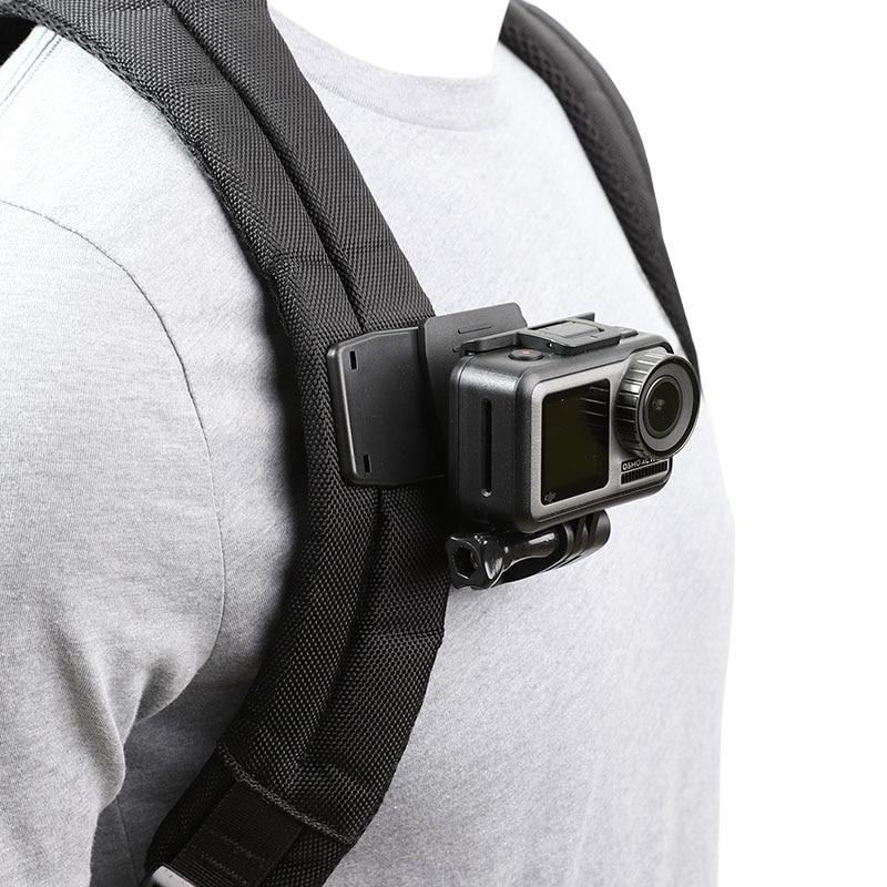 Rotate Backpack Clip Clamp Mount for GoPro Hero 8/7/6/5/4/3 Xiaomi Yi 4K Lite SJCAM SJ4000 EKEN H9/H9R Sports Camera Accessories 1pcs j hook buckle surface mount for yi sjcam sj4000 sj5000 sj7000 for gopro 7 6 5 4 3 action camera