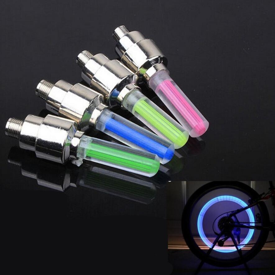 New Arrival światła rowerowe górski rower szosowy rower światła bez baterii opona czapki zaworu szprychy koła światła lampy LED