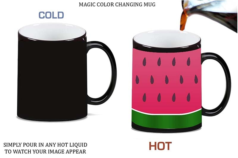 Sandía rebanada Color mágico morfing cerámica taza de café taza de té