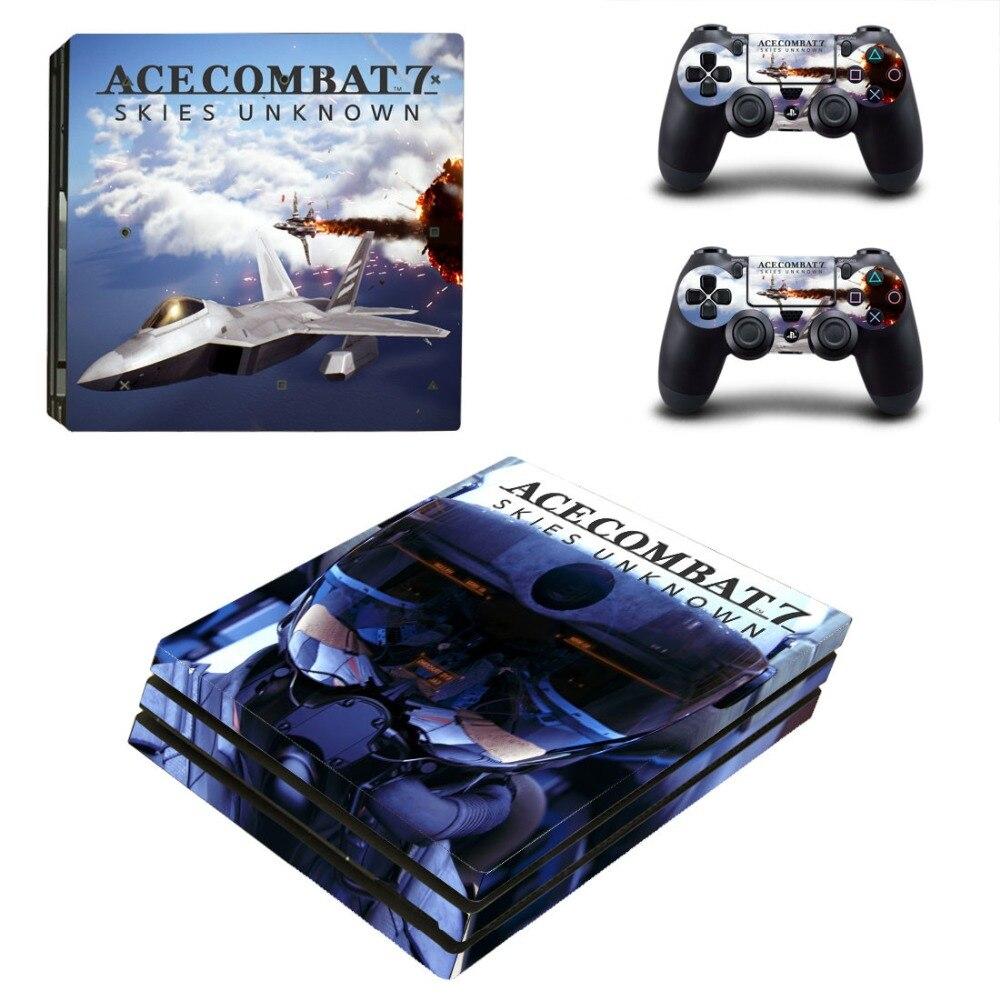 Ace Combat 7 Skies Unknown PS4 Pro наклейка для Sony PlayStation 4 Pro консоль и контроллеры PS4 Pro наклейки Наклейка
