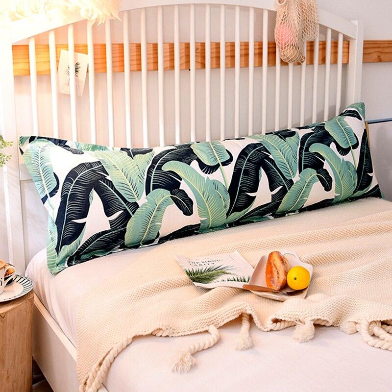 Funda de almohada larga con estampado de algodón y cremallera oculta, funda de almohada de 46*150cm, funda de cama de alta calidad para un estándar saludable, 1 unidad, # sw