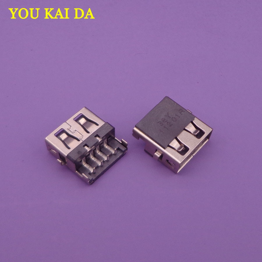 50 piezas portátil USB jack hembra conector de puerto para HP G4-1000 G6 G7-1000 G62/Lenovo G570 G570A g570AH E320/Samsung 3 NP300E5C