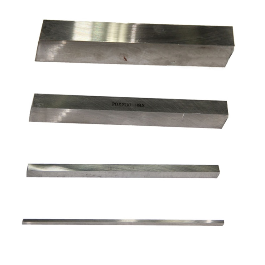 Square High Speed Steel Turning Tool HSS White Strip DIY Knives, Engraving Knives 4/5/6/8/10/12/14/16/18/20mm x (l)200mm