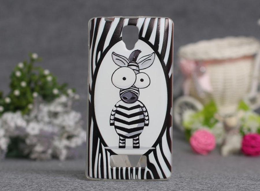 Luksusowy Styl 3D Cartoon Kwiaty Zebra Wyczyść Tylna Pokrywa Miękki TPU case dla lenovo a2010 a 2010 slim cienkie silikonowe etui na telefony 7