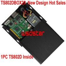 TS802DBOX20 новый дизайн, Лидер продаж, коробка для отправки светодиодной карты, 1 шт. TS802 TS802D внутренняя поддержка, регулировка яркости, 2 шт./лот