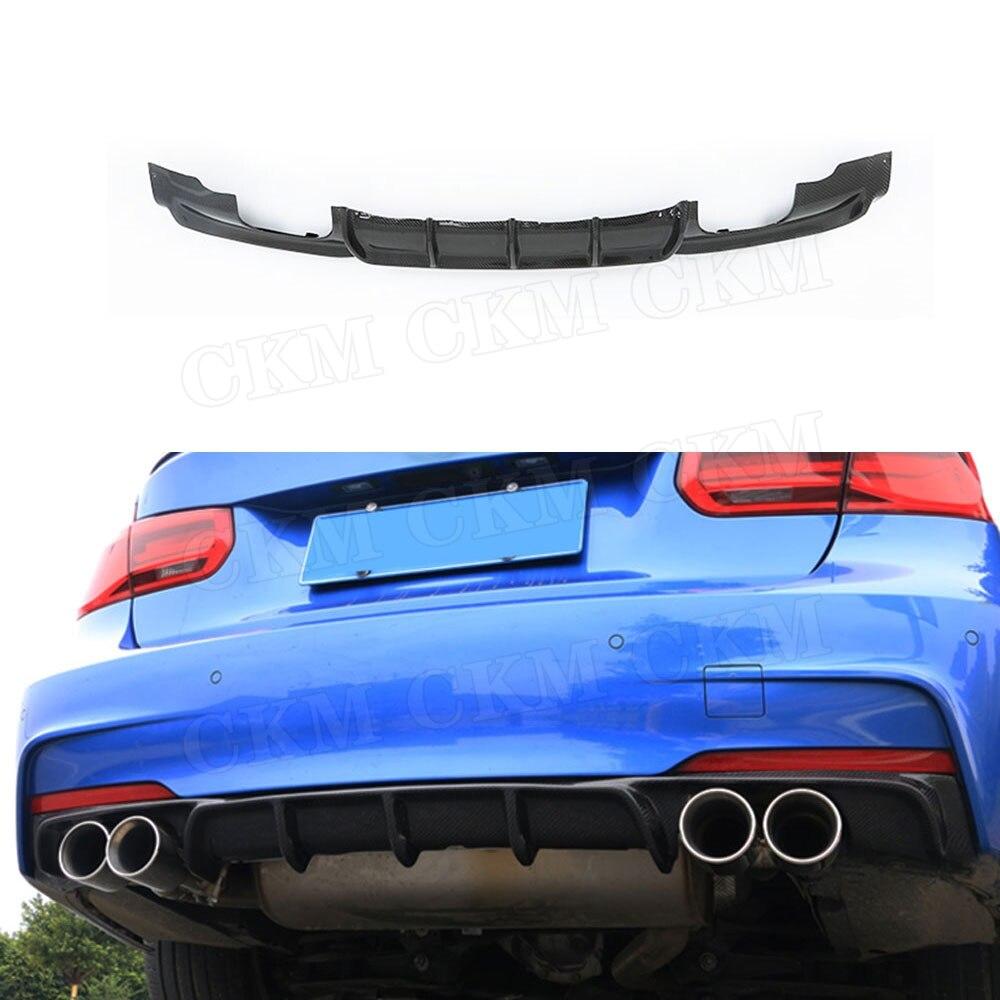 Alerón difusor de labio trasero de fibra de carbono para BMW F30 F35 320i 328i m-sport 2012-18, protector de parachoques difusor de estilo tiburón