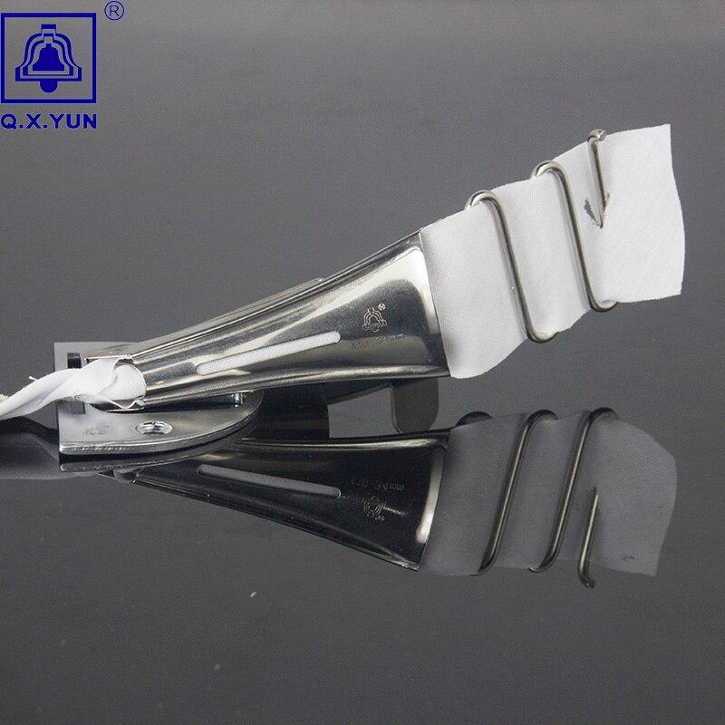 Tamanho 34mm a10 da fita da pasta do overlock de q. x. yun hemmer encadernação da viés do ângulo direito para a ligação da máquina do lockstitch da borda da curva