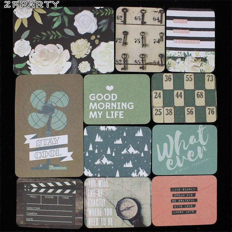 Двусторонняя печатная карточка ZFPARTY, 40 шт., порезы для скрапбукинга, happy planner, для создания карт, для журнала