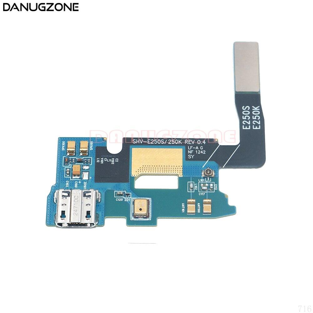 Puerto de carga USB conector de enchufe de base de carga Cable flexible con micrófono para Samsung Galaxy Note 2 E250S E250K SHV-E250S