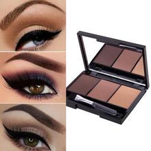 Palette dombre à sourcils 3 couleurs, Kit professionnel, longue durée, poudre avec brosse douce et miroir, offre spéciale