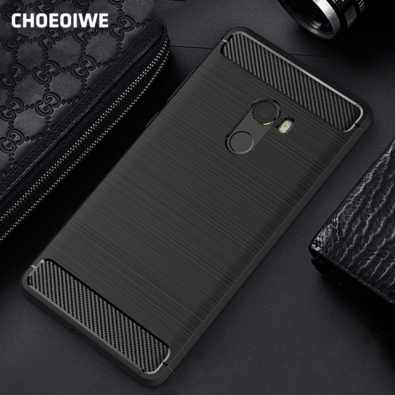 CHOEOIWE, funda a la moda para Xiaomi Mix 2 Mi 5X A1 6 5C 5 5S 6X Plus, funda protectora de fibra de carbono, funda blanda Redmi 4X 4 Pro 4A