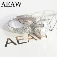2 0carat 8mm round brilliant cut ef color vvs1 moisssanite engagement wedding ring for women 14k white gold pave micro setting
