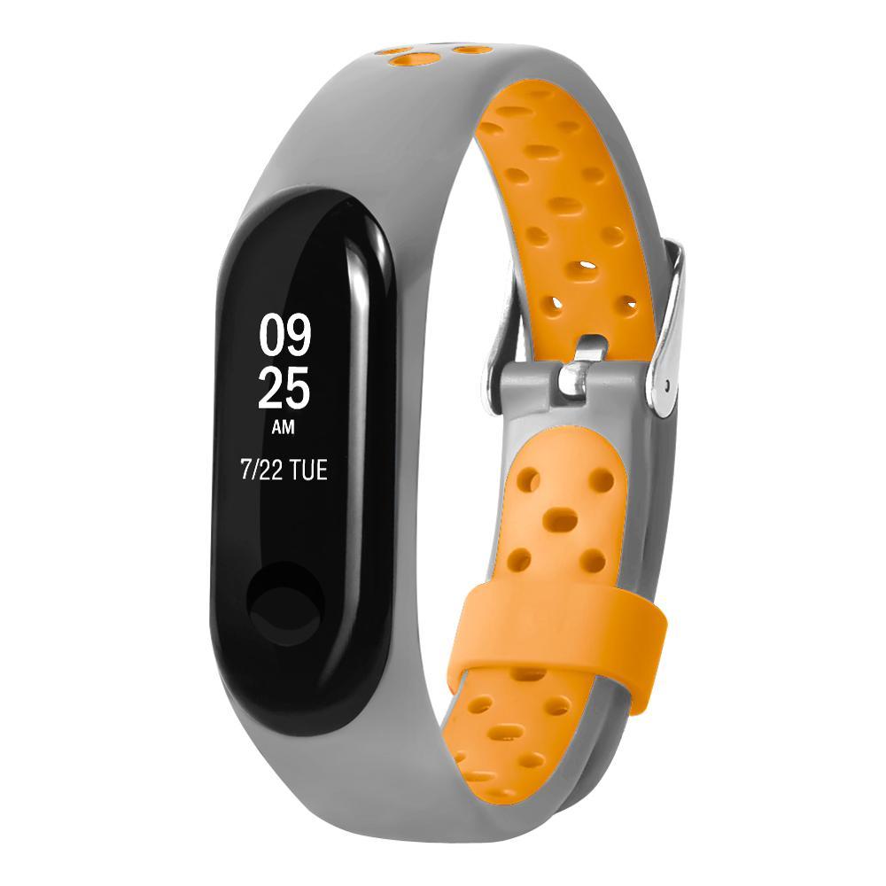 Reloj inteligente Xiaomi Miband 3/4, repuesto de pulsera de 2 colores para reloj Mi4, pulsera de plata con dos colores
