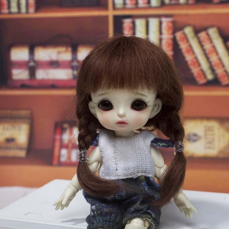 Doll Mohair Wig BJD Doll Wig 5Colors Cute BJD 1/8 Wig