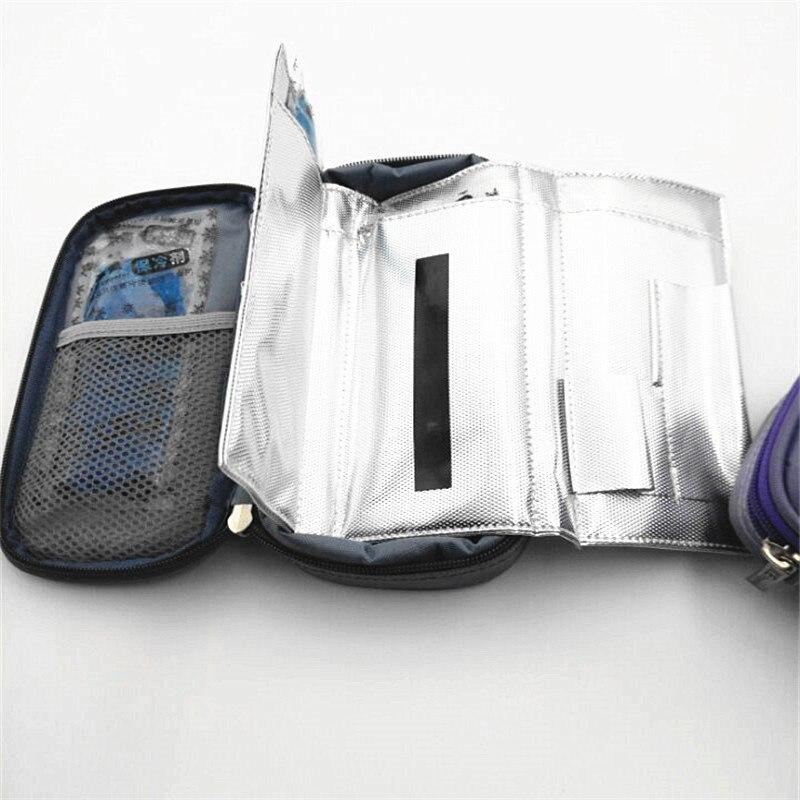 Insulino أداة مبرد معزول لمرضى السكري Insulino رحلة برودة 4 قطعة من المواد الهلامية الجليد مع شريط عرض درجة الحرارة