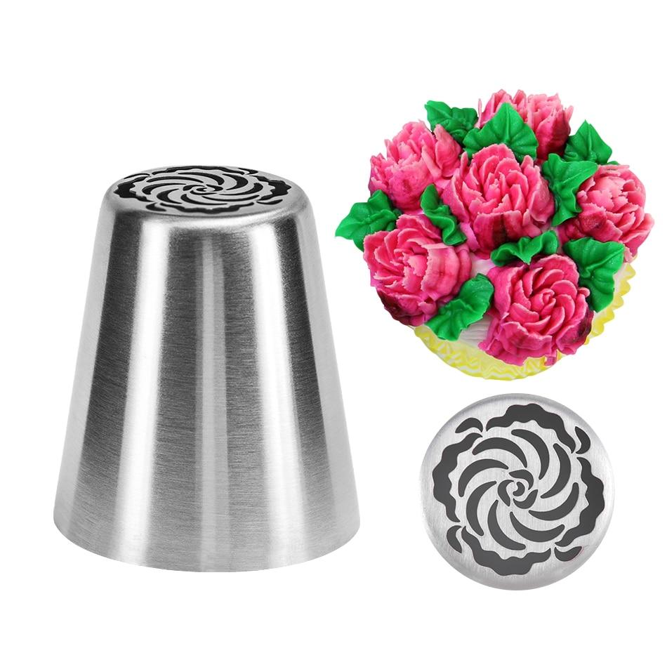 VOGVIGO, boquilla para decoración de tartas DIY, boquilla para manga pastelera de acero inoxidable, boquillas para pastelería, herramientas para hornear galletas de tulipán y flores