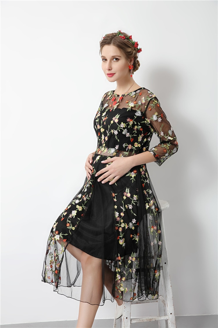 maternity dresses for baby showers Atummn Winter Long Sleeve Elegant Long Maternity Gowns Formal Pregnancy Clothes Dress enlarge