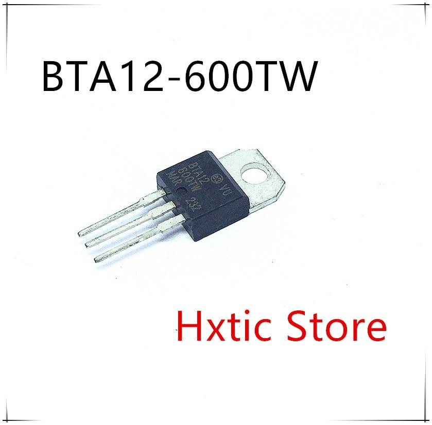 NEW 10pcs/lot BTA12-600TW BTA12-600 BTA12600TW TRIAC SENS GATE 600V 12A TO220 IC