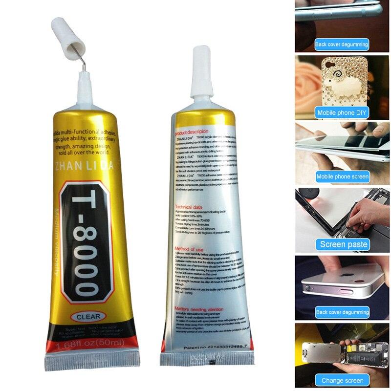 Pegamento líquido de reparación 1 Uds 15ml T8000 pegamento multiusos para teléfono con pantalla táctil marco epoxi adhesivo MAL999