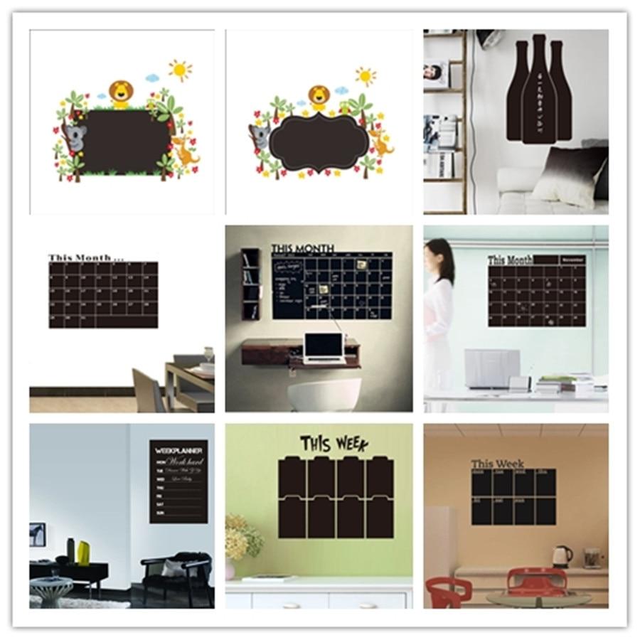 %9 different Blackboard Sticker Matching chalk PVC wall sticker kids room living room bedroom kitchen office home decor supplies