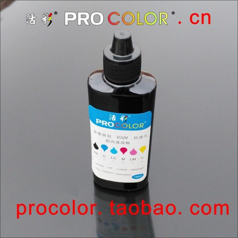 Tinta negra kit de recarga para CANON HP todas las impresoras de inyección de tinta recargable cartucho de inyección de tinta CISS Sistema de tanque de tinta de recarga de 100ml negro tinta de tinte