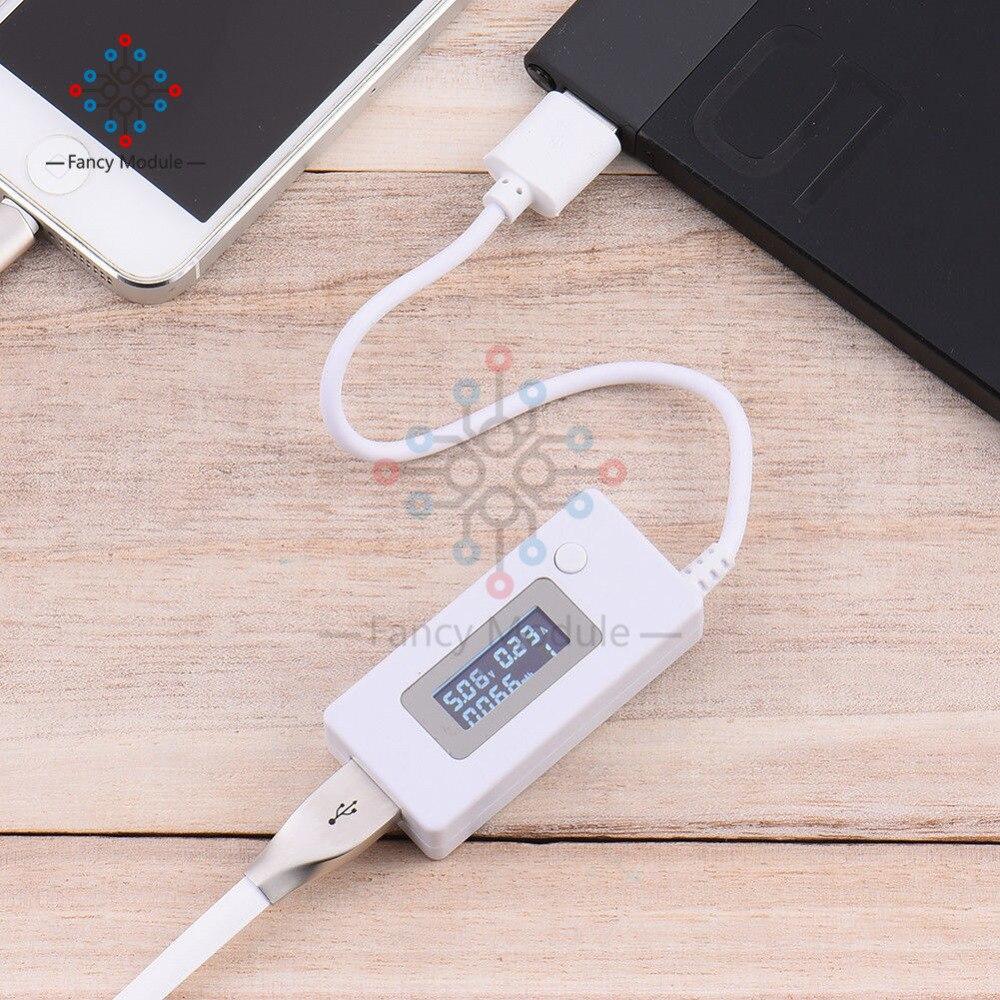 ЖК-детектор USB Вольтметр Амперметр мобильное зарядное устройство измеритель емкости Измеритель Напряжения тока зарядка монитор 3 в-7 в 3-7 в