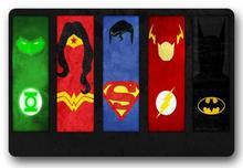 Custom Batman Deurmat Flash Pad Wonder Vrouw Mat Superman Tapijten DC Comics Badkamer Justice League Tapijten Slaapkamer Decor # D-176 #