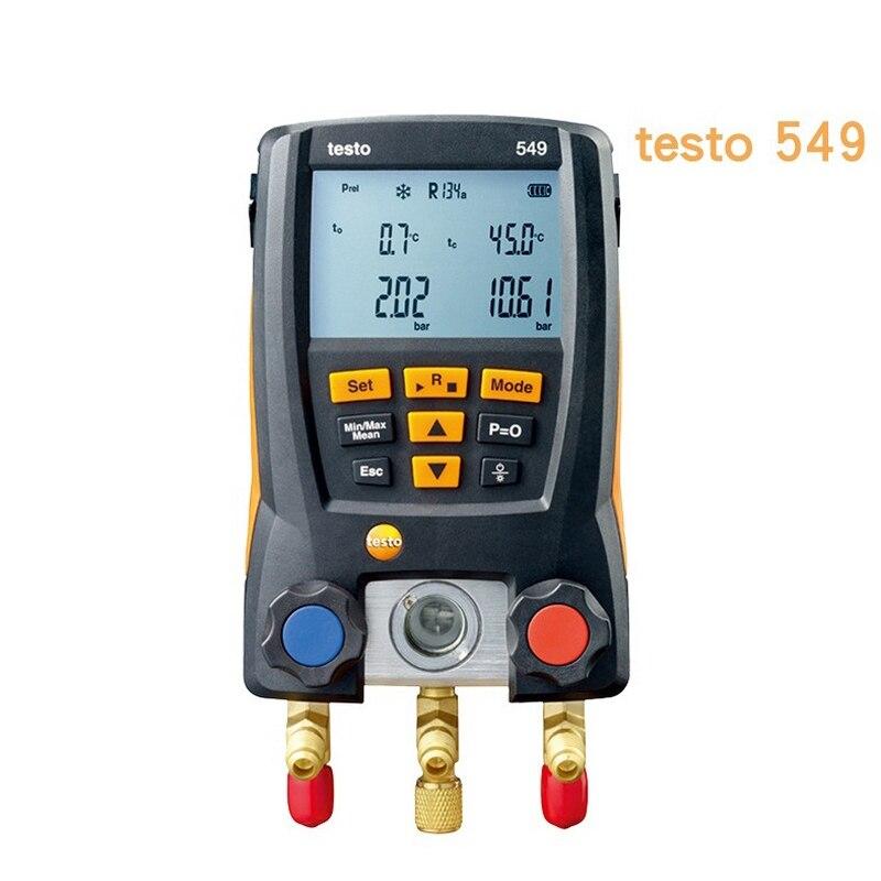 Calibre de Pressão de ar de Refrigeração Calibre para Líquido Testo Digital Manifold Refrigerante Coletor Conjunto Lcd Manômetro 549