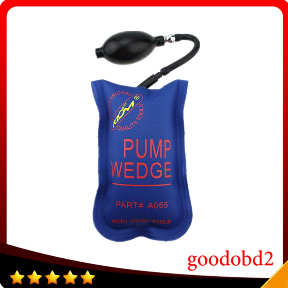 KLOM PUMP WEDGE LOCKSMITH TOOLS Air Pump Air Wedge Airbag Lock Pick Set Open Car Door Lock Blue Small Size 4.7inch*7.2inch 50pcs