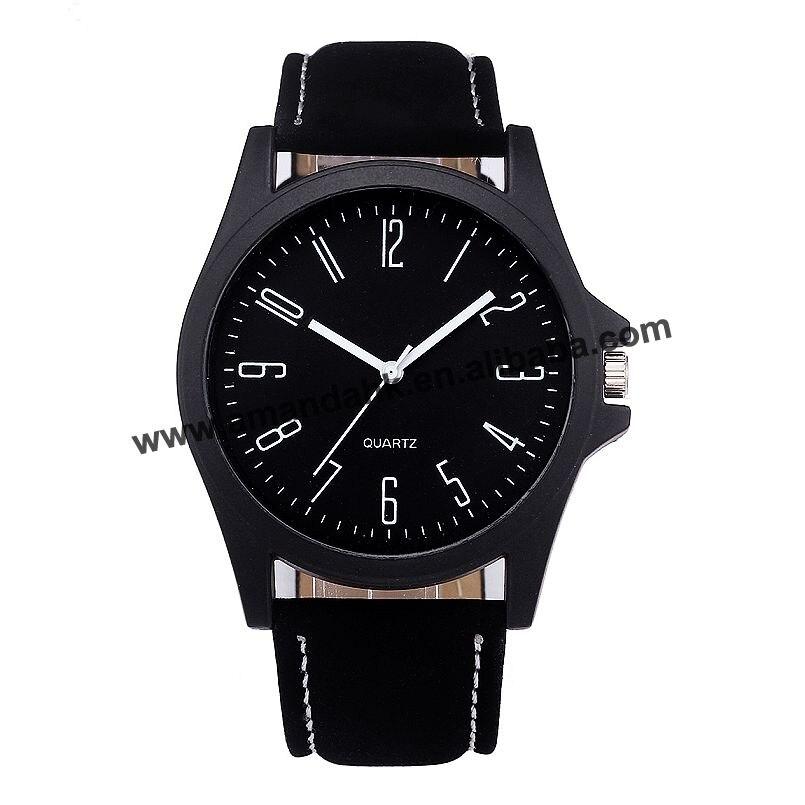 ساعة دائرية عصرية للرجال بسعر الجملة ، عرض خاص ، حزام جلدي ، تناظري ، كوارتز ، معصم دائري ، رجال أعمال ، 8323