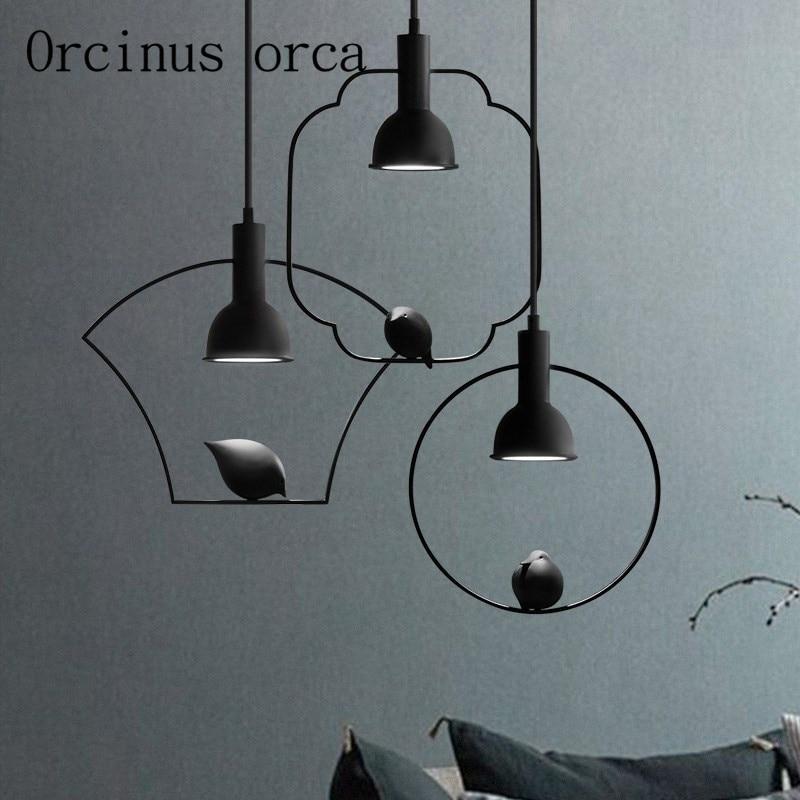 The newest Nordic modern minimalist bird chandelier restaurant bedroom lights new Chinese creative personality Chandelier