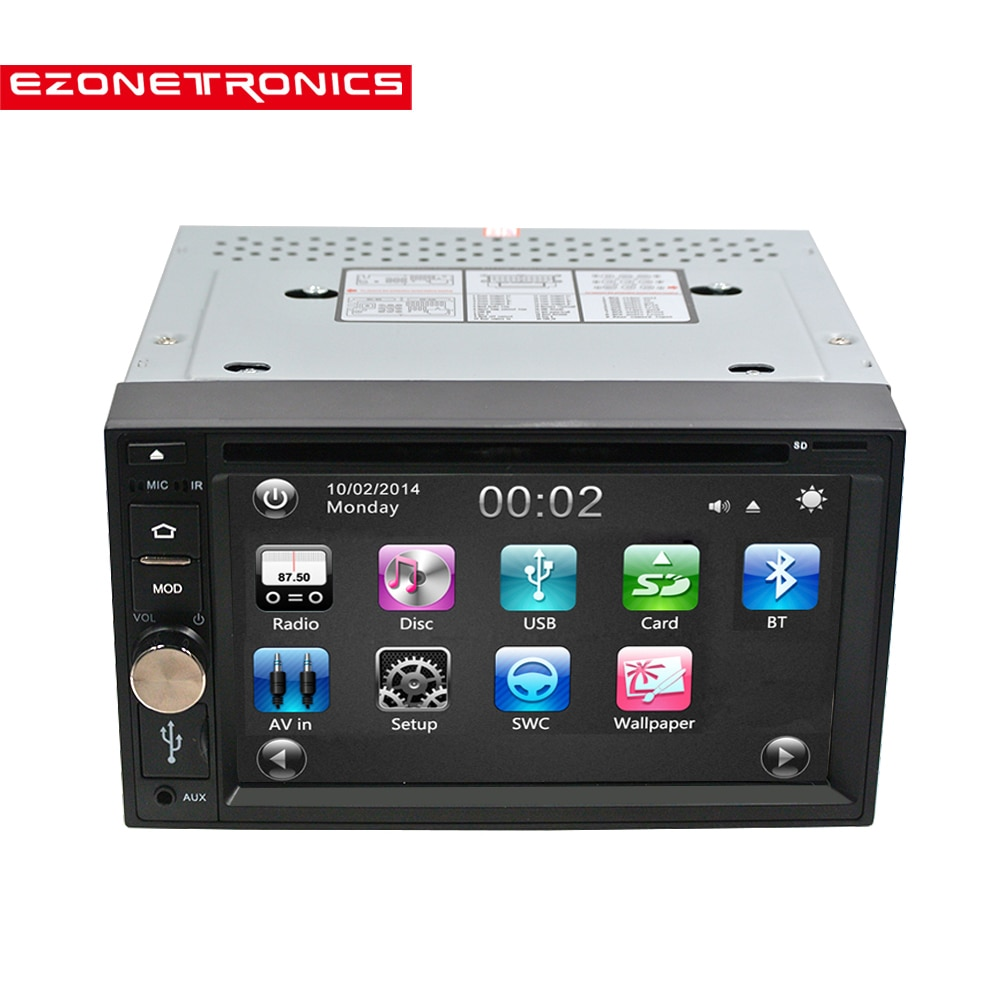 2DIn SAMOCHODOWY ODTWARZACZ DVD CD MP3 WMA odtwarzacz radio samochodowe stereo Bluetooth wolne ręce strumieniowego przesyłania muzyki uniwersalny odtwarzacz KIEROWNICA control0354
