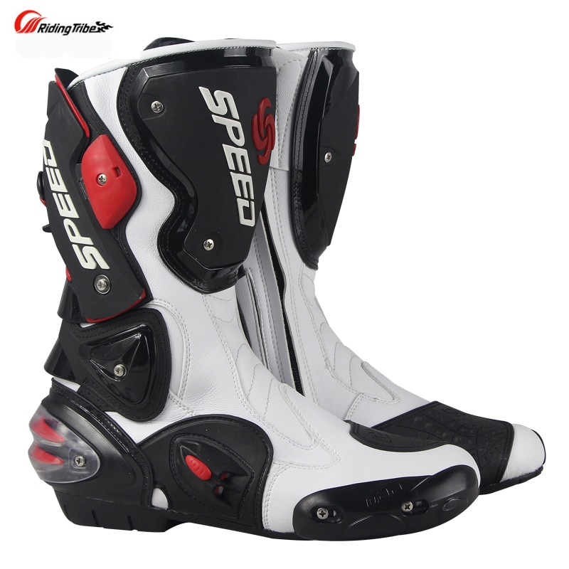Motorcycle Boots Men's Speed Motocross Racing Microfiber Leather Boot Motorbike drop resistance boots