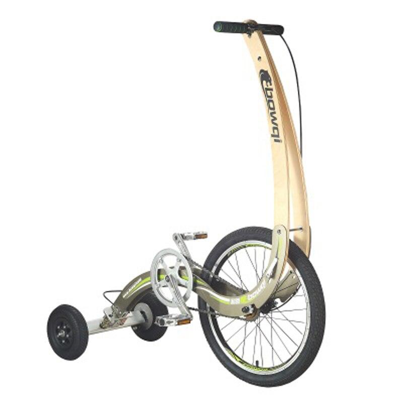 Dobre 20 Polegada rodas de borracha ao ar livre bicicleta ficar até equitação triciclo de fitness scooter