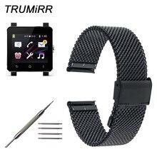 24 мм Миланская сетка для наручных часов из нержавеющей стали для Sony Smartwatch 2 SW2 Смарт-часы браслет ремешок с инструментом и шпильками