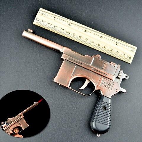Peculiar Muskets Handgun Cool Windproof Multifunctional Tobacco Cigarette Lighters Creative Butane Cigar Lighter Portable Gifts