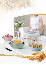 Disque assiette de stockage de fruits   Blé détachable paille de blé disque de stockage de fruits, collations de fruits secs, plat de fruits bol de fruits, outil Gadget de cuisine OK 0547 1 pièce
