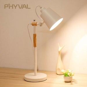 LED Table Lights for Reading Modern Nordic Simple Bedroom Beside Table Lamp Wooden Metal Desk Light Night Lighting Desk Lamps