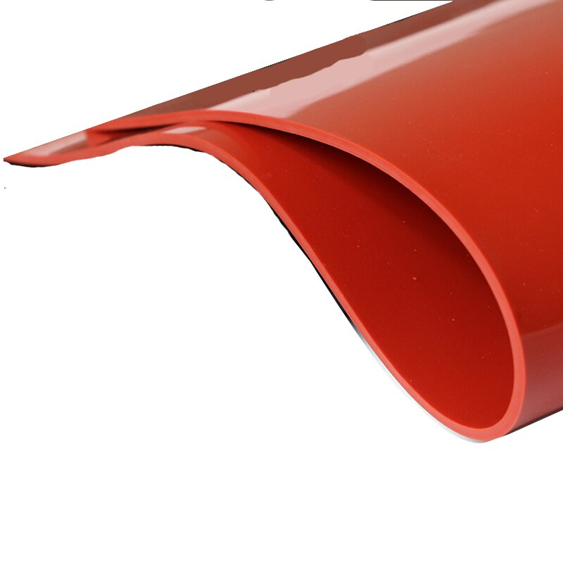 Lámina de goma de silicona roja, resistente a altas temperaturas, 100%, placa de goma Silikon virgen, tablero de aislamiento térmico 500x500mm