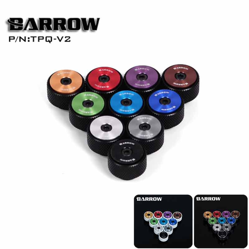 Barrow TPQ-V2 Manual Exhaust Valve,Black/White/Silver Ring,Multipurpose Fitting,Multicolor New CD pattern