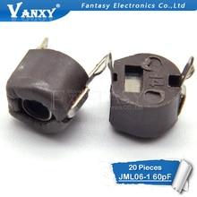 20 pièces 60 P 60PF 6mm JML06-1 DIP tondeuse Réglable condensateur