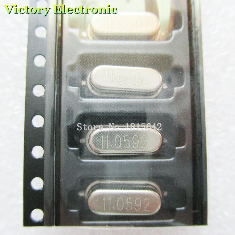 10 unids/lote SMD cristal oscilador resonador cristal 11,0592 MHz 11,0592 M 11,0592 49S HC-49S smd cristal pasivo
